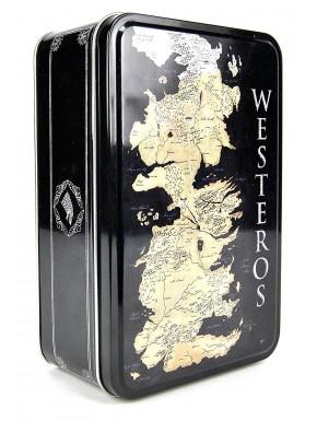 Caja de hojalata Mapa Westeros Juego de Tronos