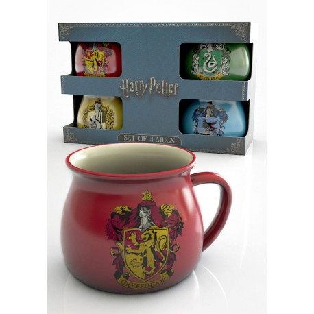 Set 4 mini tazas Hogwarts Harry Potter