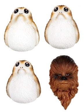 Set de Imanes Star Wars Chewbacca y Porgs