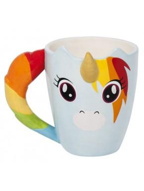 Taza 3D Unicornio Multicolor