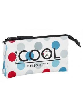 Estuche Hello Kitty Cool Triple
