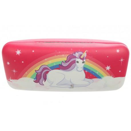 Estuche de gafas Unicornio Encantado Rosa