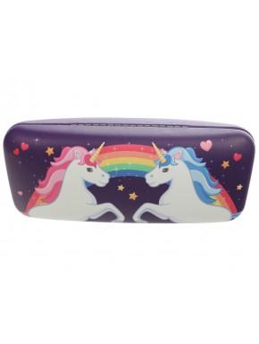 Estuche de gafas Unicornio Encantado Violeta