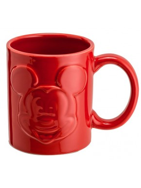 Taza Mickey Mouse Relieve Roja