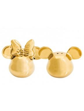 Salero y Pimentero Mickey Mouse 3D Dorado