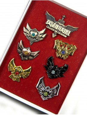 Set de pins League of Legends emblemas