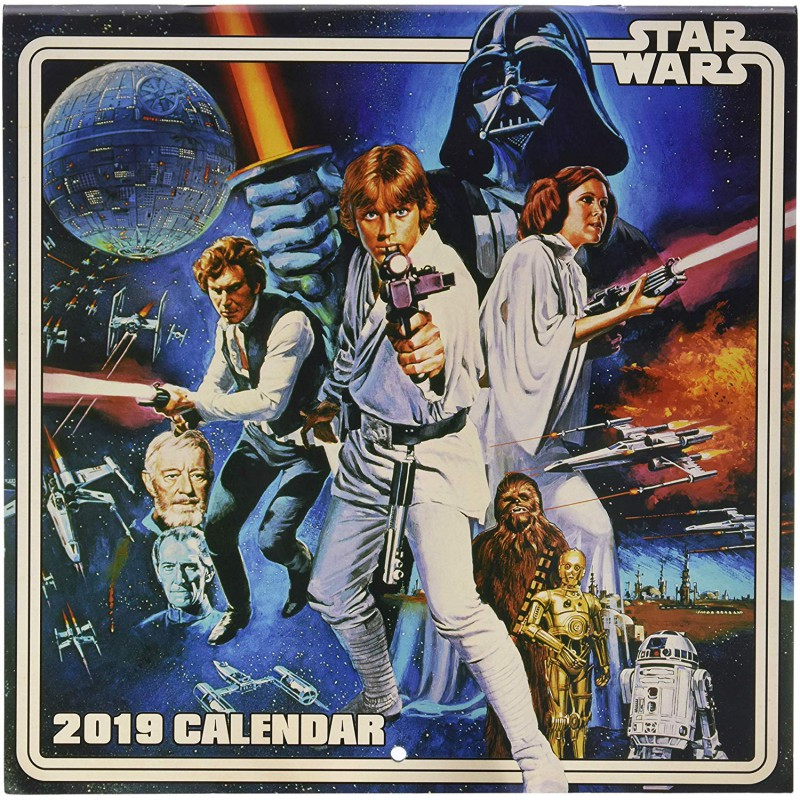 May The 4th Be With You 2019 Modesto: Calendario Pared 2019 Star Wars Vintage Por 12,50
