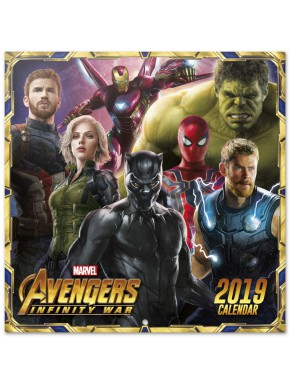 Calendario pared 2019 Marvel Comics