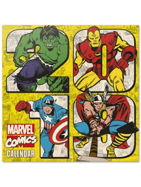 Calendario pared 2019 Marvel Comics Vintage