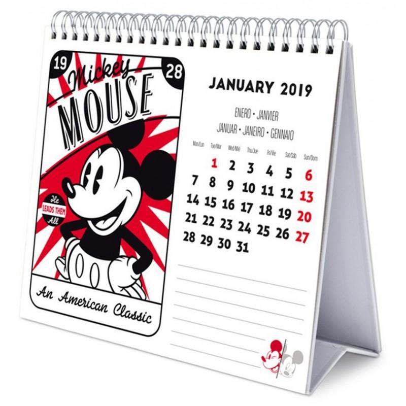 Calendario 2019 Disney Para Imprimir.Calendario Mesa 2019 Mickey Mouse Solo 11 90