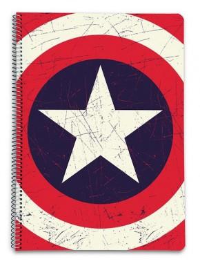 Cuaderno A4 Capitán América Marvel