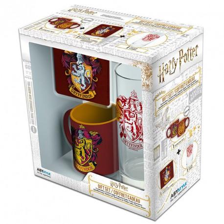 Pack regalo Gryffindor Taza + Vaso + Posavasos