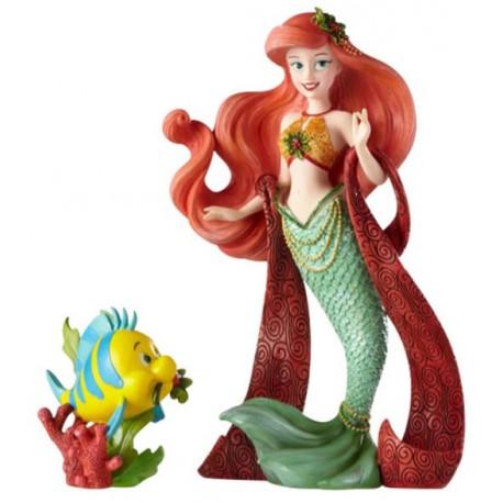 Figura Disney Ariel y Flounder La Sirenita 19 cm