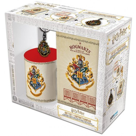 Pack regalo Harry Potter Taza + Llavero + Libreta Hogwarts