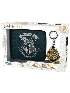 Pack regalo Harry Potter Cartera + Llavero Hogwarts