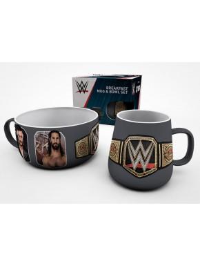 Set Taza + Bol WWE Wrestling