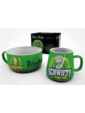 Set Taza + Bol Rick y Morty Get Schwifty
