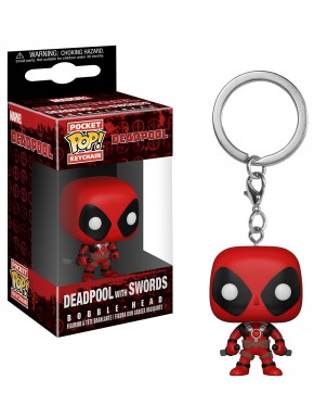 Llavero mini Funko Pop! Deadpool con Katanas