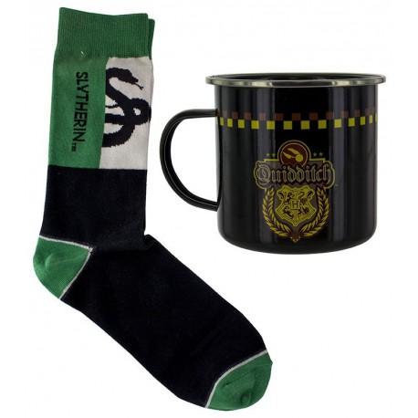 Set Taza + Calcetines Harry Potter Slytherin