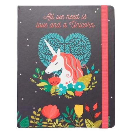 Cuaderno A5 Unicornio All You Need is Love