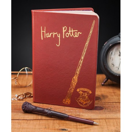 Set de Libreta y Bolígrafo Varita Harry Potter