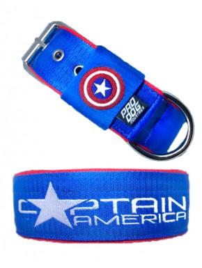 Collar para perro Capitán América personalizable