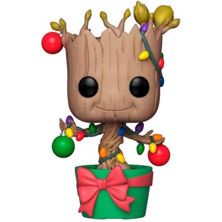 Funko Pop! Groot Edición Navidad con adornos y luces