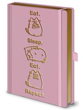 Libreta premium A5 Pusheen Sleep Eat Repeat