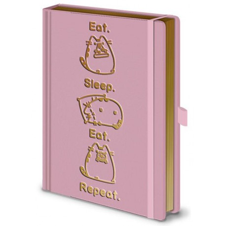 Libreta premium A5 Pusheen Sleep Eat Repeat