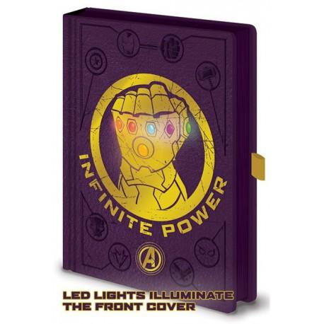 Libreta A6 Avengers Guantelete del Infinito Thanos