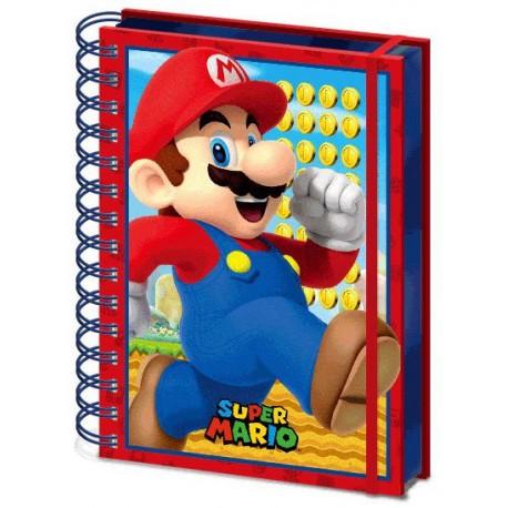 Libreta Cuaderno 3D Super Mario Nintendo