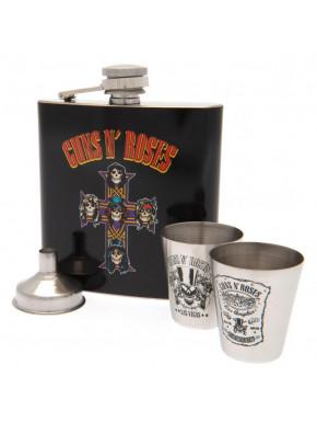 Set Petaca y Vasos Guns n' Roses Deluxe Logo