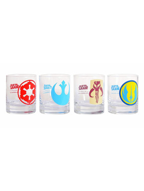 Set vasos Star Wars logos