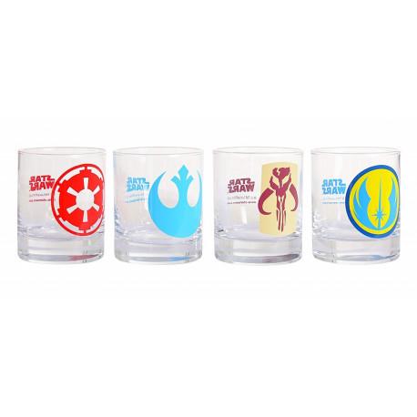 Set vasos Star Wars logos