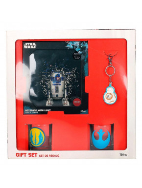 Pack regalo Star Wars Rebeldes Libreta + Vasos + Llavero
