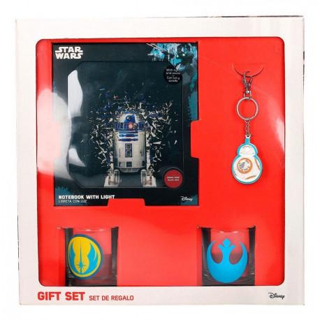 Pack regalo Star Wars Rebeldes Libreta + Vasos + Llavero