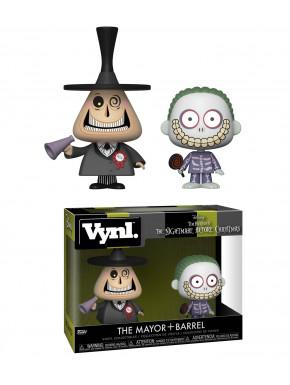 Set Figuras Mayor & Barrel Pesadilla Antes de Navidad Funko VYNL