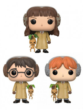 Pack Funko Pop! Harry Potter Hermione y Ron con Mandrágoras