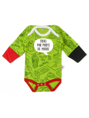 Body bebé Papi es un Friki Manga Larga