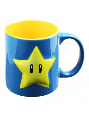 Taza Gigante 3D Super Mario Estrella