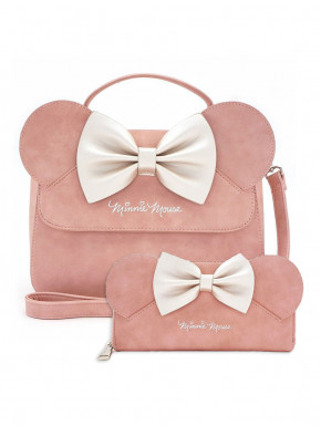 Pack bolso y cartera Minnie Mouse Loungefly lacito