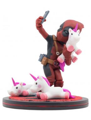 Figura Deadpool con Unicornio Q-Fig Marvel 15 cm