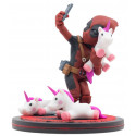 Figura Deadpool con Unicornio Q-Fig Marvel 15 cm