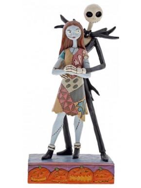 Figura Jack y Sally Pesadilla Antes de Navidad Jim Shore 22 cm