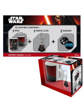 Pack regalo Darth Vader Taza + Llavero + Chapas