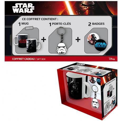 Pack regalo Stormtrooper Taza + Llavero + Chapas
