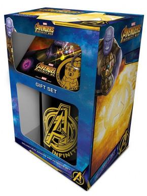 Pack regalo Thanos Avengers Infinity War Taza + Llavero + Posavasos