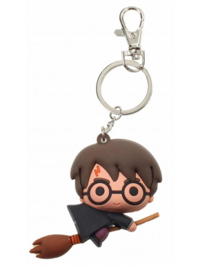 Llavero Kawaii Harry Potter Capa Negra y Escoba