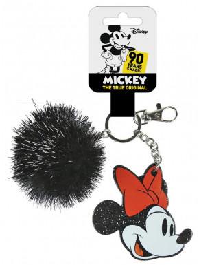 Llavero Minnie Mouse con Pompón