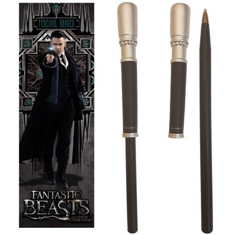 Set bolígrafo y marcapáginas Percival Graves Animales Fantásticos